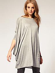 manches chauve-souris ajustement lâche des femmes SSMN tricoter t-shirt long