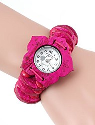 Legno Bracciale Shape Peach Blossom Watch (1pc)