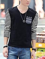 Men's Fashion V-Neck Slim Long Sleeve T-Shirts