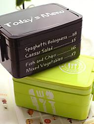 8.2 «boîte à lunch des doubles couches japonais