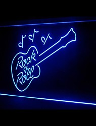 Rock Roll Gitarren-Werbung LED-Licht Anmelden