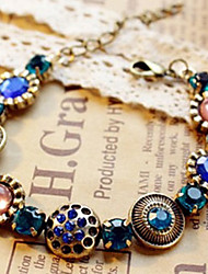 MIKI Vintage Colorful Gemstone Diamante Bracelet