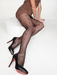 Ultra-thin Wire Core-spun Yarn Elasticity Hearts Tights Soft Sexy Nylon Pantyhose  Hosiery