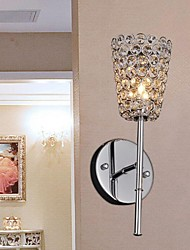 Crystal/Bulb Included Wall Sconces/Reading Wall Lights , Modern/Contemporary E12/E14 Metal