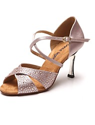 Women's Satin Golden Heels Diamond  Latin Dance Shoes Sandals(More Colors)