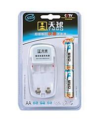 TMMQ 101 TMMQ 101 Charger for 2pcs AA / AAA Ni-MH / Ni-Cd Rechargeable Batteries (Included 2xAA)