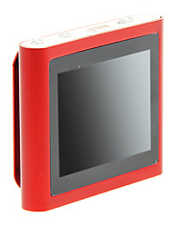 "superior 1,8 ""multi-touch de radio fm pantalla con clip 8gb mp4 (rojo)"
