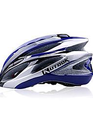 KUTOOK 21Vents EPS + PC Azul Integralmente-moldados Capacete de Ciclismo (56-62 centímetros)