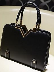 DLH Women'S Simple Tote Bag(Black)
