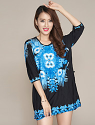 Women's Dresses , Cotton/Lace/Others Casual Feifang
