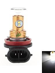 H8 8w 8x2323 SMD 400lm 6000-6500k White Light Bulb LED para Direcção do carro / luz de marcha atrás (DC12-24V)