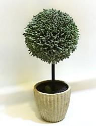 8 «plantes h la petite boule de fleurs de tissu de soie artificielle en pot
