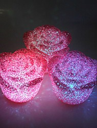 Wedding Décor One Large LED Night Light Rose Crystal Particles