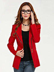 WeiLi Women's Casual Long Sleeve Coats & Jackets (Polyester)