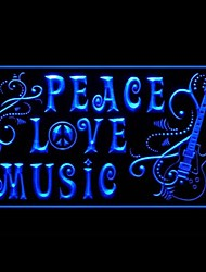 Enjoy Peace Love Music Advertising LED Light Sign