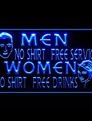 Free Drinks Advertising LED Light Sign,110-120V