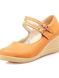 Frauen Keilabsatz Mary Jane Pumps Schuhe (weitere Farben)