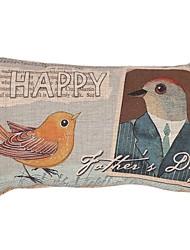 """Createforlife ® 12 """"x 20"""" Le jour de père heureux Rectangle coton / lin coussin décoratif"""