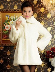 Thick Long Sleeve Turndown Faux Fur Coat(More Colors)