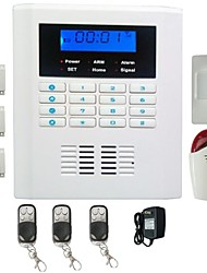 Quad Band Gsm And PSTN LCD Display Wireless Home Security Alarm Burglar System