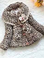 Girl's Cotton/Faux Fur Jacket & Coat , Winter Long Sleeve