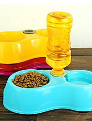 Automatic Water And Food Double Basin Bowl For Pets Dogs