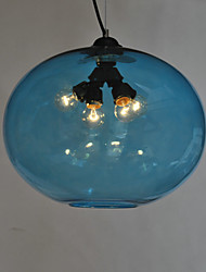 Glass Flush Mount Light with 3 Lights with Transparent Shade