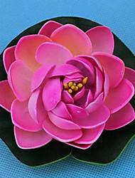 10 cm de diámetro de simulación de loto yema floral, juego de 3