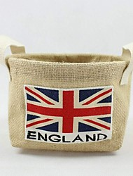 Multi-function British Flag Folded Cloth Jute Clothes Storage Bags