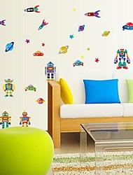 Createforlife® Cartoon Robots Space Kids Nursery Room Wall Sticker Wall Art Decals