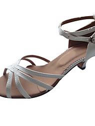 Customized Women's  Leather Upper Latin Dance Shoe