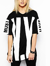 Standard - Dünn - Bedruckt - T-Shirt (Baumwoll-Mischung)