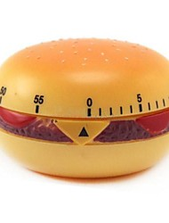 60 mins Hamburger Shaped Mechanical Kitchen Timer Cooking Count Down