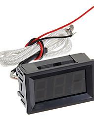 xghf 3 dígitos termopar pyrometer - preto (dc 4.5 ~ 40v)
