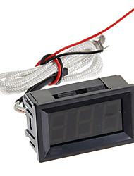 xghf 3 dígitos termopar pirómetro - negro (CC 4.5 ~ 40v)