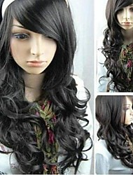 Long Hair Curly Black New Role Playing Fashionable Women Wigs