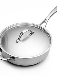 BODEUX® Series No Coating Sauté Pans 24cm 304 Stainless Steel 46cm*24cm*8cm