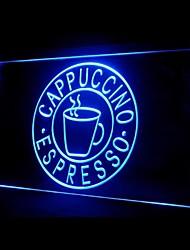 Капучино Эспрессо Реклама светодиодные Вход