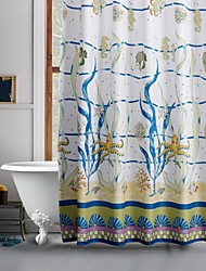 Cartoon Underwater World Shower Curtain
