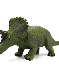 Triceratops Dinosaur Model Rubber Action Figures Toy(Green)