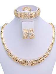 WesternRain Women's chinoiserie vintage-inspired Gold-plated  Jewelry Set