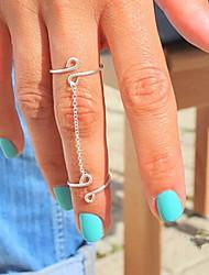 shixin® classico argento fortunato anello midi 8 forma (1 pc)