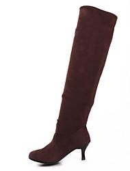 altas botas de los zapatos de tacón de aguja de la moda tianli rodilla del ante de las mujeres más colores disponibles