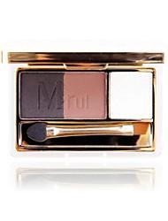 profesional 2 modelo de 3 colores paleta de sombra de ojos con espejo&esponja de doble extremo
