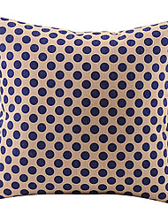 Dark Blue Dots Cotton/Linen Decorative Pillow Cover