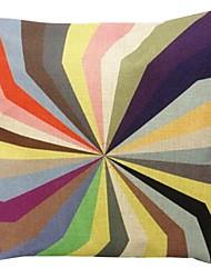 "Createforlife® 18"" Retro Kaleidoscope Cotton Linen Square Decorative Pillow"