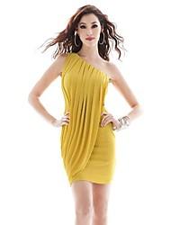 Women's Yellow Dress , Vintage/Casual/Party/Work/Bodycon Sleeveless