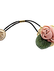Sweet Rose With Leaf Lace Hair Ties Random Color