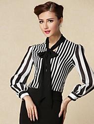 Women's Fall Shirt Long Sleeve Multi-color Translucent