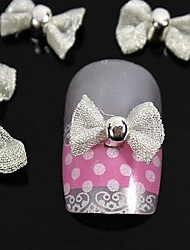 10pcs  White Bow Tie For Finger Tips Accessories Nail Art Decoration